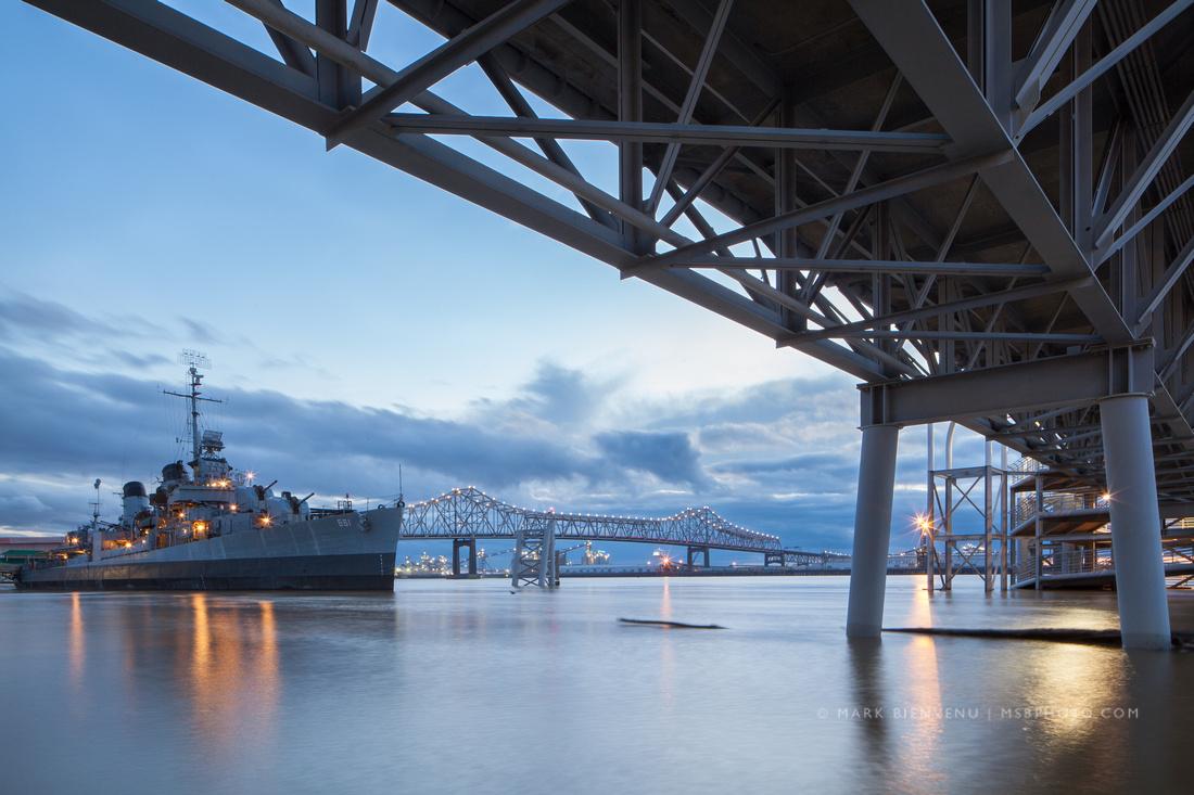 Downtown Baton Rouge, Louisiana on the Mississippi River | Travel Photographer Mark Bienvenu
