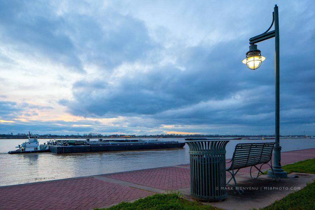 Downtown Baton Rouge, Louisiana on the Mississippi River | Landscape & Travel Photographer Mark Bienvenu