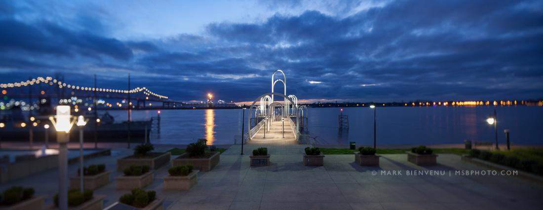 Downtown Baton Rouge, Louisiana on the Mississippi River | Landscape Architecture Photographer Mark Bienvenu