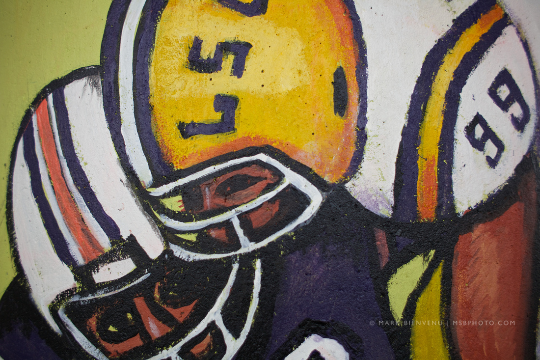LSU Football Painting - I-10 - Baton Rouge, Louisiana