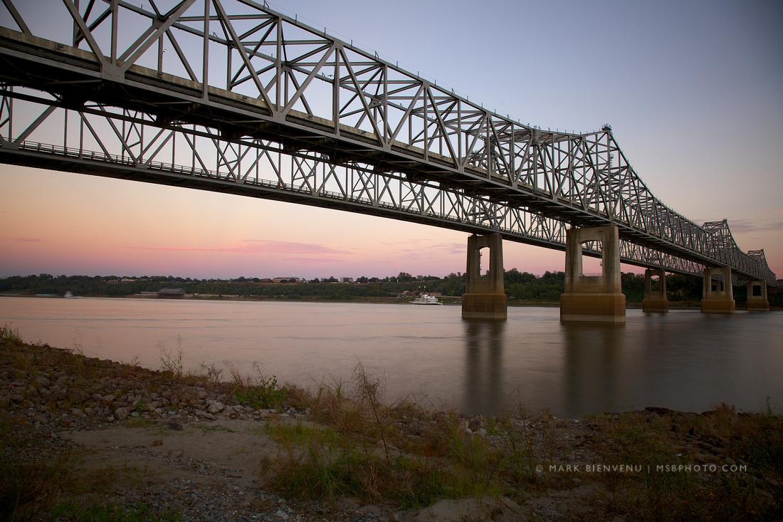 Natches-Vidalia Bridge on the Mississippi River