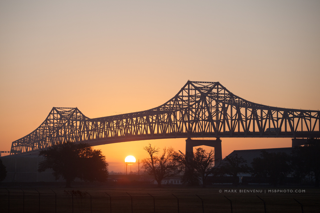Mississippi River Bridge - Sunrise