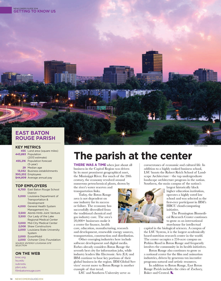 Newcomer's Guide | Baton Rouge Business Report