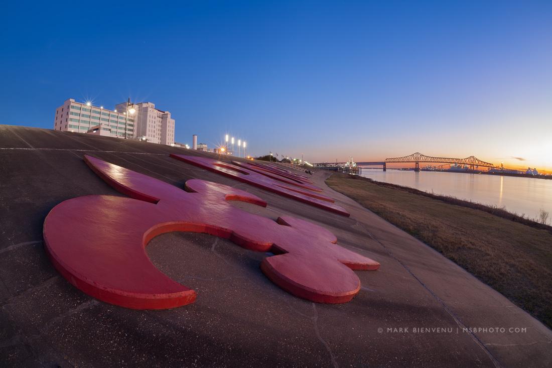 Baton Rouge Fleur De Lis | Louisiana Travel Photographer Mark Bienvenu