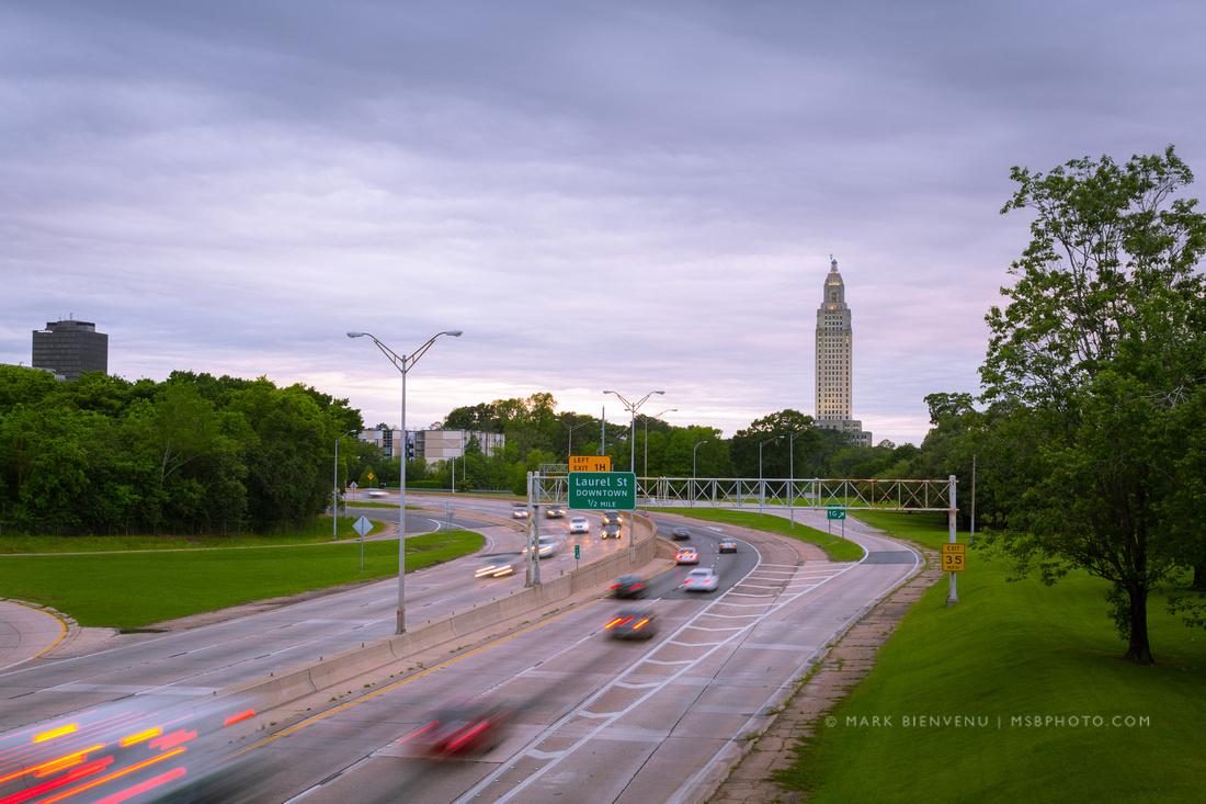 Louisiana I-110 Traffic