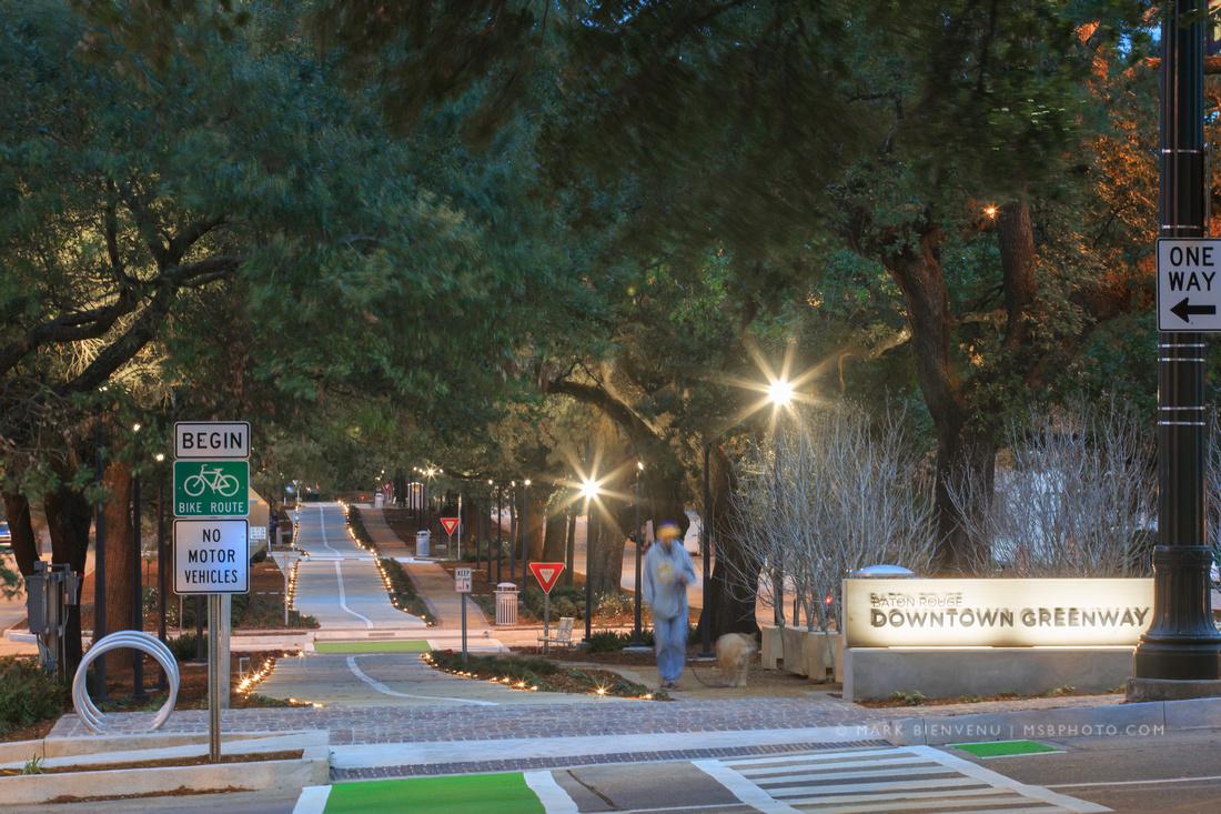Baton Rouge Downtown Greenway | Landscape Architecture Photographer Mark Bienvenu