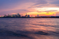 Sunset at Port of Greater Baton Rouge