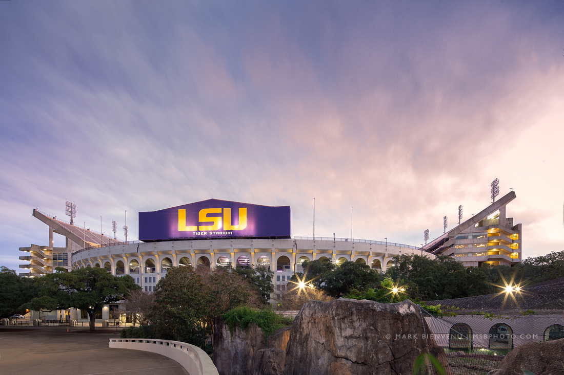 LSU Tiger Stadium | Baton Rouge Architectural Photographer Mark Bienvenu