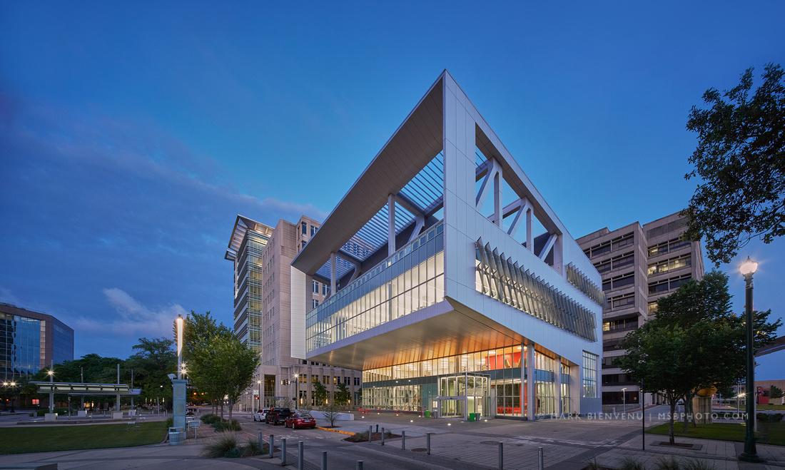 River Center Library | Louisiana Architectural Photographer Mark Bienvenu.