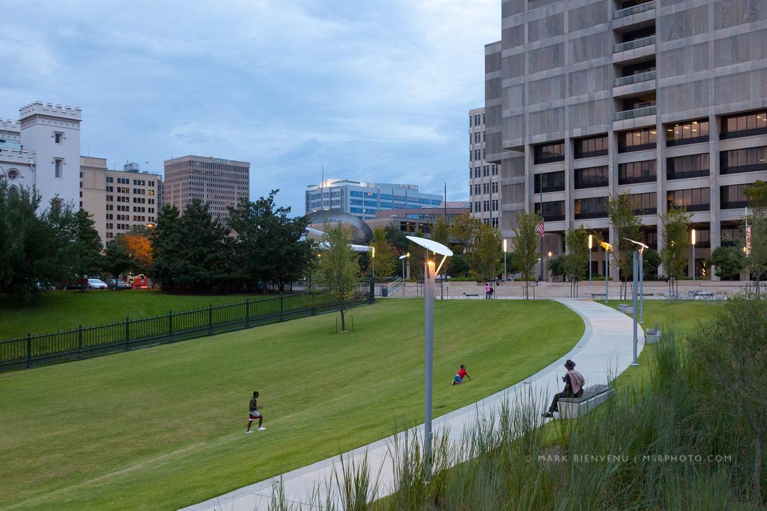 Repentance Park & St. Phillips Promenade photographed by Baton Rouge Architectural Photographer Mark Bienvenu