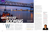 Port of Greater Baton Rouge & Baton Rouge Skyline | Louisiana Commercial Photographer Mark Bienvenu