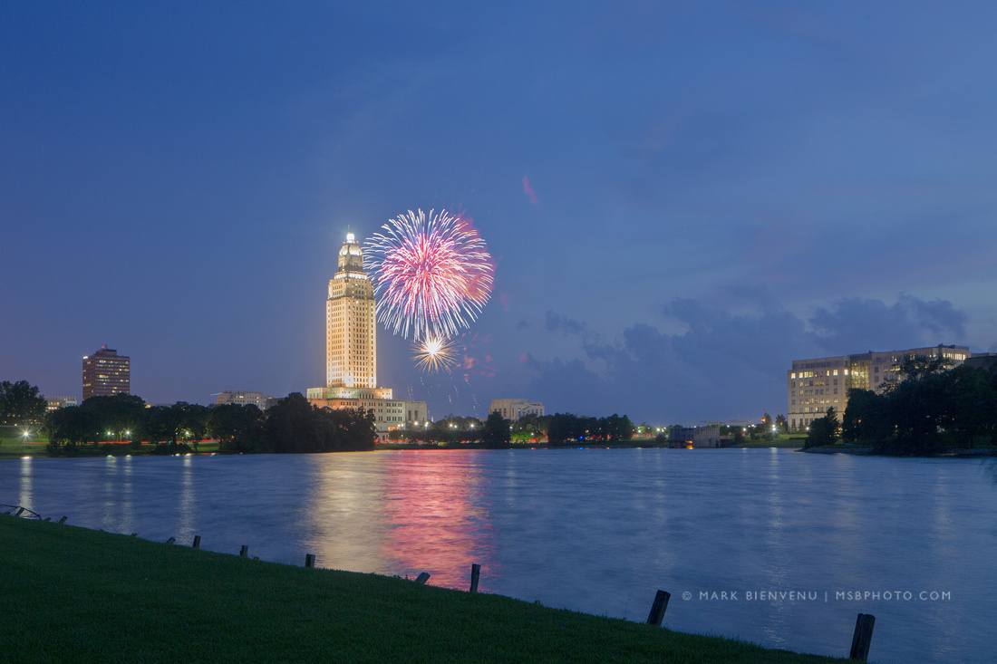 Baton Rouge Fireworks | Louisiana Photographer Mark Bienvenu