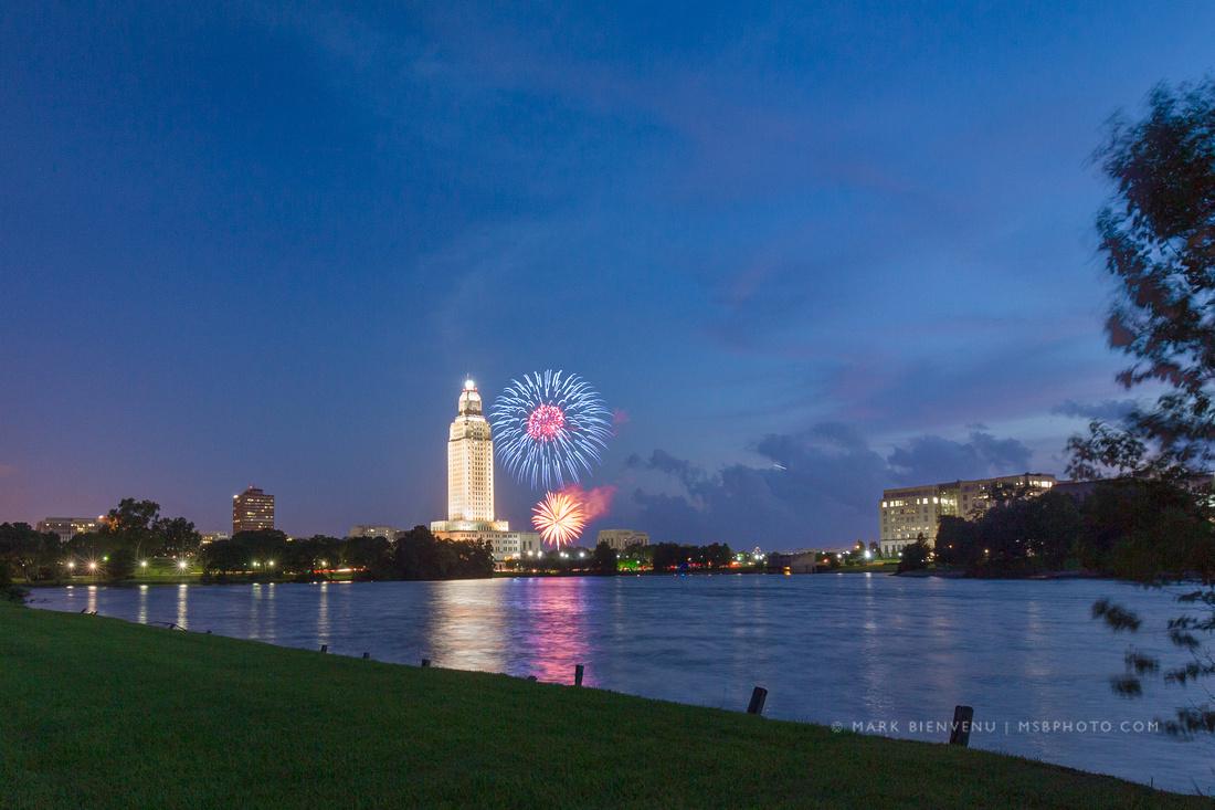 Baton Rouge Fireworks | Louisiana Photographer Mark Bienvenu