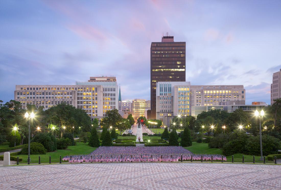 Memorial Day Flag Garden | Baton Rouge, Louisiana | Mark Bienvenu