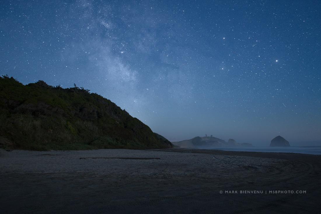 Stars & Milky Way at Cape Kiwanda, Oregon   Louisiana Photographer Mark Bienvenu